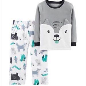 5/$25 Carter's Husky Fleece Pajamas